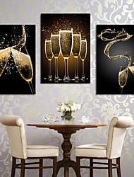 Trasferimenti su tela di arte romantica Splash The Wine Set di 3