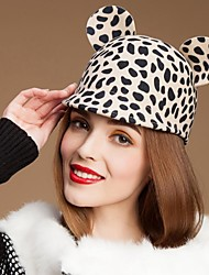 Недорогие -Прекрасные Шерсть дамы партия / На открытом воздухе / Повседневная Hat с ушами животных (Еще цветов)