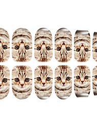 preiswerte -12PCS Cat Pattern Luminous Nail Art Sticker