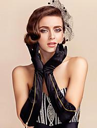 baratos -luva de óculos de cetim luvas de festa / noite estilo feminino clássico
