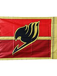 Недорогие -Больше аксессуаров Вдохновлен Фейри Тейл Natsu Dragneel Аниме Косплэй аксессуары Флаг Терилен Муж.