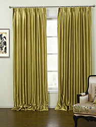 cheap -Rod Pocket Grommet Top Tab Top Double Pleat Two Panels Curtain Modern, Embossed Solid Living Room Polyester Material Curtains Drapes Home