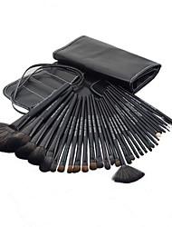 Недорогие -Pro Высокое качество 32 шт Синтетический Макияж волос щетки с черным PU Сумка