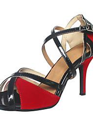 economico -Da donna Balli latino-americani Velluto Sandali Tacco su misura Rosso Personalizzabile
