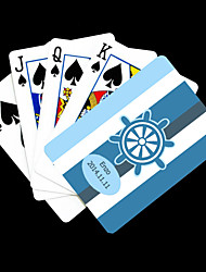 Regalo personalizzato Blue Anchor strisce pattern Playing Card per il Poker
