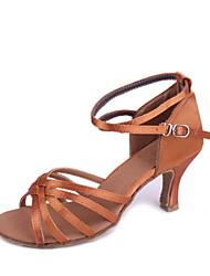 Kundenspezifische Frau Satin klassischen Fünf-Streifen-Kreuz Dance Schuhe für Latin / Ballroom Sandalen