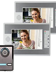 baratos -Vídeo de 7 polegadas porta porta do telefone intercomunicador kit 1 camera visão nocturna de 2 monitores
