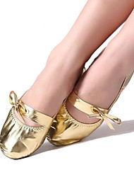 cheap -Women's Belly Leatherette Flat Bowknot Flat Heel Gold Non Customizable
