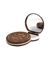 6.5*6.5*1.2 cm Chocolate Cosmetic Mirror Cosmetic Beauty Care Makeup for Face