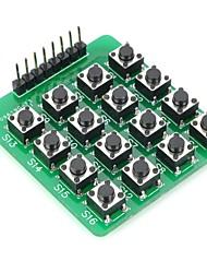 DIY MCU Extensão 4 x 4 Módulo 16-Key Keyboard Matrix para Arduino (Funciona com oficiais Arduino Placas)