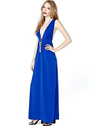 HAODUOYI ™ Deep V-hals backless Slim Evening Party Dress
