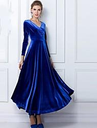 Недорогие -элегантный V шеи установлены платье Лето женщин