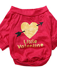 cheap -Dog Shirt / T-Shirt Dog Clothes Heart Rose Cotton Costume For Pets