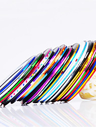 billige -12 pcs Nail Foil Striping Tape Negle kunst Manicure Pedicure Daglig Abstrakt / Mode / Folie Stripping Tape