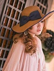 Женская мода бантом Соломенная шляпка