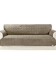 abordables -caqui microsuede sólidos e impermeables Mini acolchar cubo sofá cubierta