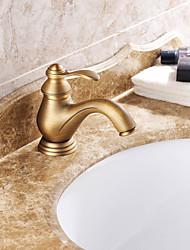 billige -centerset enkelt håndtag antik messing håndvasken vandhane