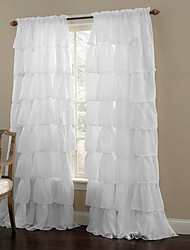 One Panel Curtain Modern , Solid Living Room Polyester Material Sheer Curtains Shades Home Decoration For Window