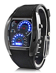 cheap -Men's Wrist watch Digital Calendar / date / day LED Rubber Band Creative Black