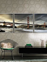 Paesaggio Tele con cornice / Set con cornice Wall Art,PVC Bianco Senza passepartout con cornice Wall Art