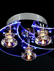 cheap -Modern/Contemporary Crystal LED Flush Mount Ambient Light For Living Room Bedroom Dining Room 110-120V 220-240V Bulb Included