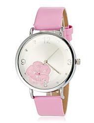 cheap -Women's Wrist watch Fashion Watch Japanese Quartz Hot Sale Band Flower White Blue Green Pink Purple