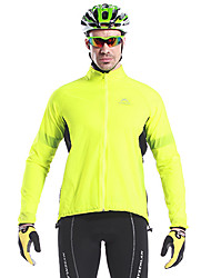 Mysenlan Cycling Jacket Men's Bike Jacket Tops Waterproof Quick Dry Windproof Wearable Reflective Trim/Fluorescence Polyester Patchwork