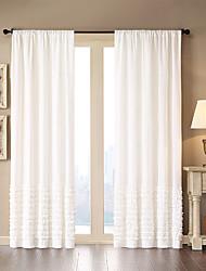 Недорогие -1 панель Окно Лечение Modern Однотонный Гостиная Хлопок материал Шторы портьеры Украшение дома