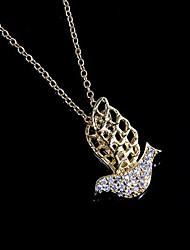 Недорогие -Птица образный латунь Позолоченные С кубического циркония Женская ожерелье (больше цветов)