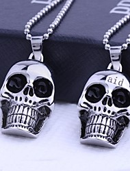 cheap -Personalized Gift  Skull Shapes Stainless Steel Jewelry Engraved Pendant Necklace with  60cm Chain