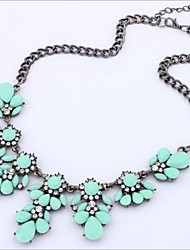 cheap -Women's Shape Fashion Statement Necklace Crystal Rhinestone Alloy Statement Necklace Wedding Party Daily Casual Costume Jewelry