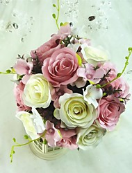 "Wedding Flowers Free-form Roses Bouquets Satin Silk 9.84""(Approx.25cm)"