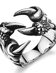 Недорогие -Муж. Классические кольца Pоскошные ювелирные изделия бижутерия Нержавеющая сталь Циркон Искусственный бриллиант Крестообразной формы В