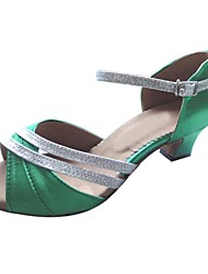 cheap -Women's Latin Satin Heel Customized Heel Multi Color Customizable