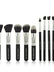 billige -10 stk Sort Professional Kosmetiske Makeup Pensler Set