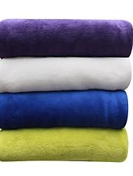 baratos -Velocino de Coral, Sólido Sólido 100% Poliéster cobertores