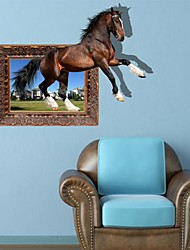 3D The Horse Wall Stickers Vægoverføringsbilleder
