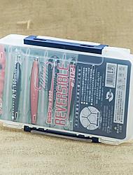 Недорогие -200 * 126 * 36MM Две стороны Белый Прозрачный Рыбалка Box снасти Box