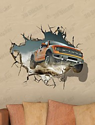 3D Car Wall Stickers Vægoverføringsbilleder