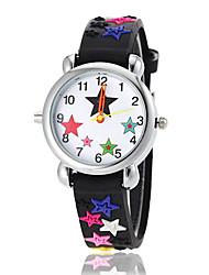 Недорогие -Детская Прекрасный звезда шаблон фонарик Светодиодные силиконовой лентой кварцевые наручные часы (разных цветов)