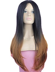 cheap -Ombre Synthetic Long High Quality Two Tone Big Wave Female Elegant Fashion Celebrity Wig