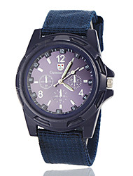 cheap -Men's Army Style Fabric Band Quartz Wrist Watch (Assorted Colors) Cool Watch Unique Watch Fashion Watch