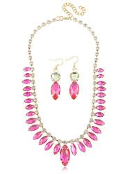 Jewelry Set Women's Anniversary / Wedding / Birthday / Party Jewelry Sets Alloy / Rhinestone Rhinestone Necklaces / EarringsRed / Blue /