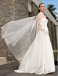 Linea-A Senza bretelline Strascico a terra Raso Tulle Vestito da sposa con Perle di LAN TING BRIDE®