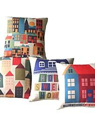 Sæt med 4 Sweet Home Dekorative Pillow Cover