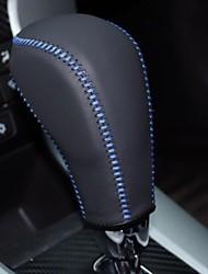 Xuji ™ Nero Genuine Leather Gear Shift manopola della copertura per Chevrolet Cruze Chevrolet Captiva Automatic