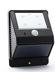 4-LED PIR Solar Power Motion Sensor Wall Garden Street Lamp