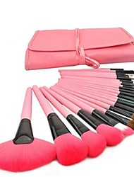abordables -24pcs Pinceles de maquillaje Profesional Sistemas de cepillo Pincel de Poni / Pincel de Nylon / Pelo Sintético Pincel Grande