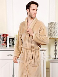 cheap -Fresh Style Bath Robe, Solid Colored Superior Quality 100% Coral Fleece Woven Plain