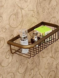 Bathroom Shelf / Antique Brass Brass /Antique